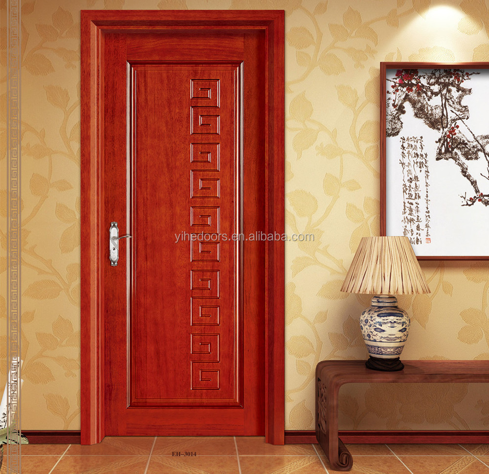 Solid core mdf raised panel interior indoor wood door for Mdf solid core interior doors