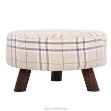TDC-501A-REMOVE FABRIC QVB JIANDE TONGDA home ottoman and foot stool carbon fir leg round ottoman stool modern ottoman