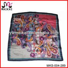 Wholesale alibaba in stock print square 100% silk multi way scarf