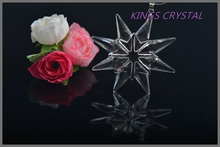 High qualiy 80MM Clear color Annual Edition crystal snowflakes ornament ,Crystal snowflake pendant ,Crystal hanging snowflake