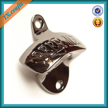 Zinc alloy die casting beer bottle opener wall mount, wall mount bottle opener