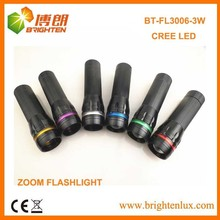 OEM Logo White Light Night Used Super Bright Aluminum Cree led 200 lumens flashlight