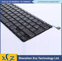 Black tested 100% working laptop keyboard replacement for macbook pro 13.3''