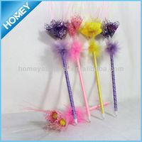 Novelty flower plastic ball pen for promotion