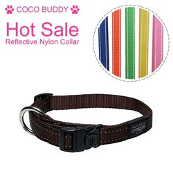 2015 hot sale dog products dual reflective dog collar on China market