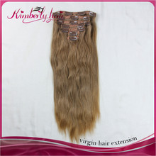 hot selling products wholesale 15 piece clip on set hair extensions