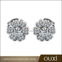 OUXI 2015 fashion design jewelry fine custom logo earrings