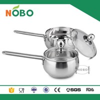Double bottom stainless steel milk pot