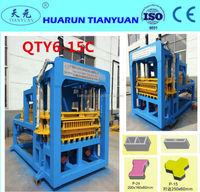Cagayan de oro city hollow block machine QT6-15 Hollow block machine with ISO CE -Tianyuan made