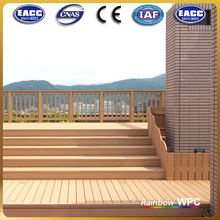 Outdoor plastic deck wpc floor covering, wpc ecological patio floor tiles