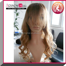 Wholesale body wave remy virgin human hair sew full lace wig