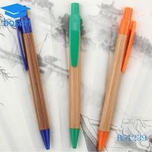 Hot selling natural wood color plastic pen
