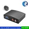 High Quality 1080P VGA to HDMI converter VGA+R/L rca Audio to HDMI converter Box
