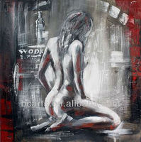 Abstract woman body art. High-quality hand-painted wall art deco nude. Hotel decoration Hot Pictures