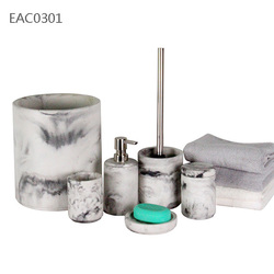 Marble decoration cement bathroom accessories