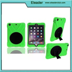 Hard Polycarbonate Kid shockproof case for ipad mini, for ipad mini stand case