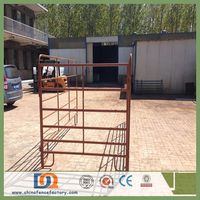Trade Assurance 3/4/5/6 Rails Portable Oval Steel Pipe Cattle Farming Rail Fencing