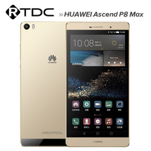 6.8 Inch IPS 3GB RAM 64GB ROM 13.0MP Original Huawei Ascend P8 Max 4G FDD LTE Mobile Phone Android 5.0