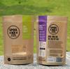 brown kraft paper bag for food packaging with ziplock and window/wholesale beef jerky paper packaging bags with zip lock