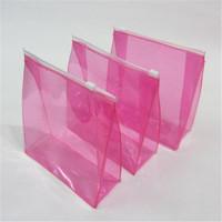 China factory transparent ziplock hot seal pvc nice plastic bag