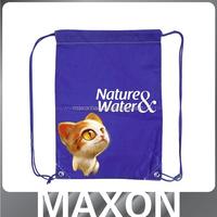 China manufacturer cartooon 210d polyester drawstring shoe bag promotional bag