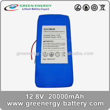12v lifepo4 20ah lithium polymer cells batteries for electric bikes
