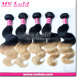 new style high quality reasonable human hair two tone full lace wig