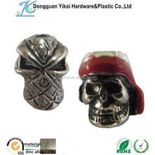 China product metal skull heads, Chrome skulls beads,cheap skull beads