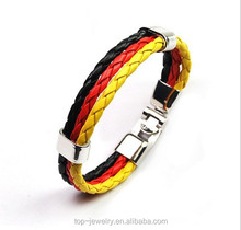 2015 Fashion handmade weave leather bracelet