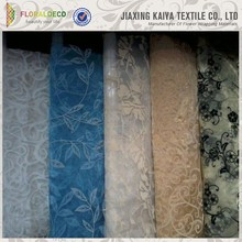 Beautiful Flocked Jacquard Sheer Curtain Embroidered Organza Fabric