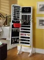 Full body Mirror Jewelry Armoire And Cabinet and storage and mirror