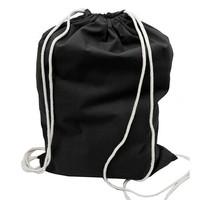 Factory good quality black cotton drawstring bag