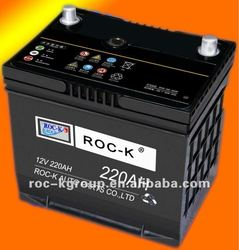New type and cheap MF car battery 220ah