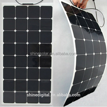 Hot sale mono solar cells high efficiency flexible solar panel, High Quality Semi Flexible Solar Panel SN-H100W