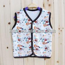 2014 nuevo estilo de la moda de bebé de algodón de impresión niñas bebé chaleco ropa de otoño para baby