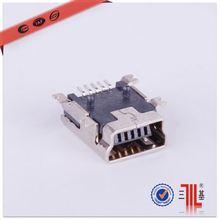 mini 5pin to micro 5pin mini usb connector b 5 pin smt micro usb connector female 5p