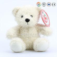 High quality toy furry bear & soft long hair teddy bear toys