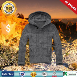 2015 wholesale fashion thick 100% cotton blank hoodies with no labels