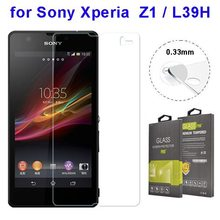 China Manufacturer 0.33mm 2.5D Clear Tempered Glass Screen Protector for Sony Xperia Z1 L39H