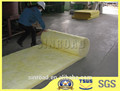 50 mm de lana de vidrio insonorizadas aislamiento de fieltro certificado ASTM lana de vidrio para horno