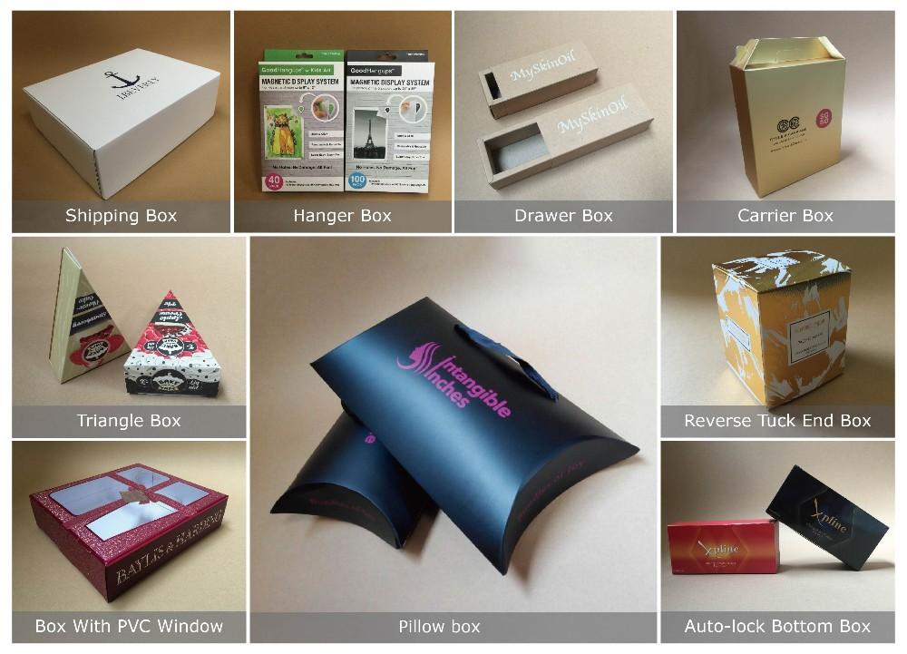 Embalagem caixa de papel com peúga dos homens manga