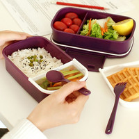 Good Quality Kids School Food Container with Spoon and Fork