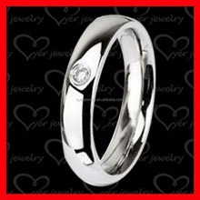 female wedding ring made of titanium diamond setting