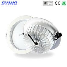 high quality white finishing 5w 9w 12w 15w 18w 21w cob led dimmable downlight