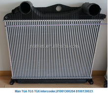Factory direct sale ! MAN TGA/TGS/TGX 81061300204 81061300233 truck intercooler