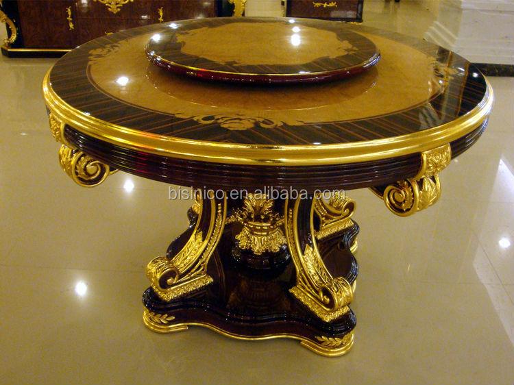 Bisini Baroque Collection Luxury Antique Gold Leaf Side