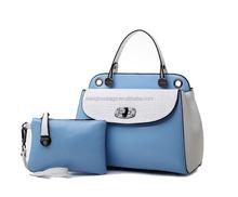 2015 high quality fashion blue custom tote bag handbag