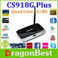 Original CS918G más Amlogic S805 Quad Core Android TV Box 1 G / 8 G IPTV Smart TV XBMC
