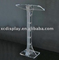 Contemporary Clear Acrylic Lectern and Podium