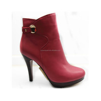 red boots with heels soft leather/PU boots for women spike sole boots